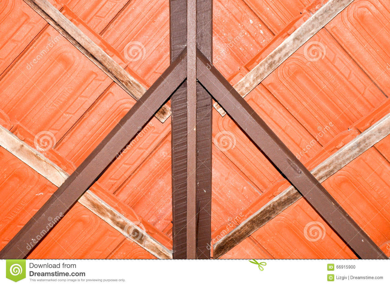 Terracotta Roof Abstract Stock Photo Image Of Support