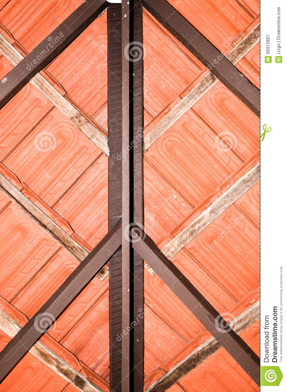 Terracotta Roof Tiles Stock Image Image Of Ceramic Tiles