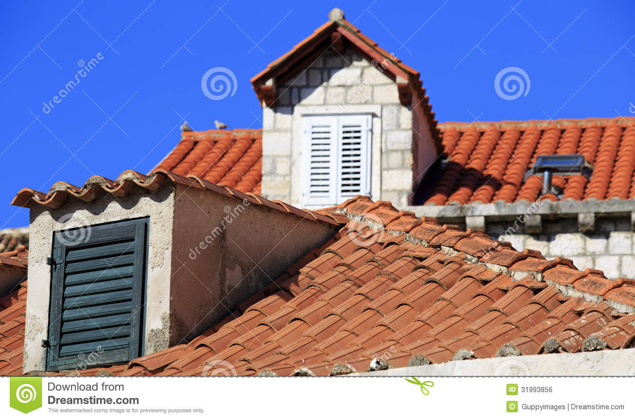 Royalty-Free Stock Photo & Terracotta Roofs And Dormer Windows With Shutters Royalty Free ... memphite.com