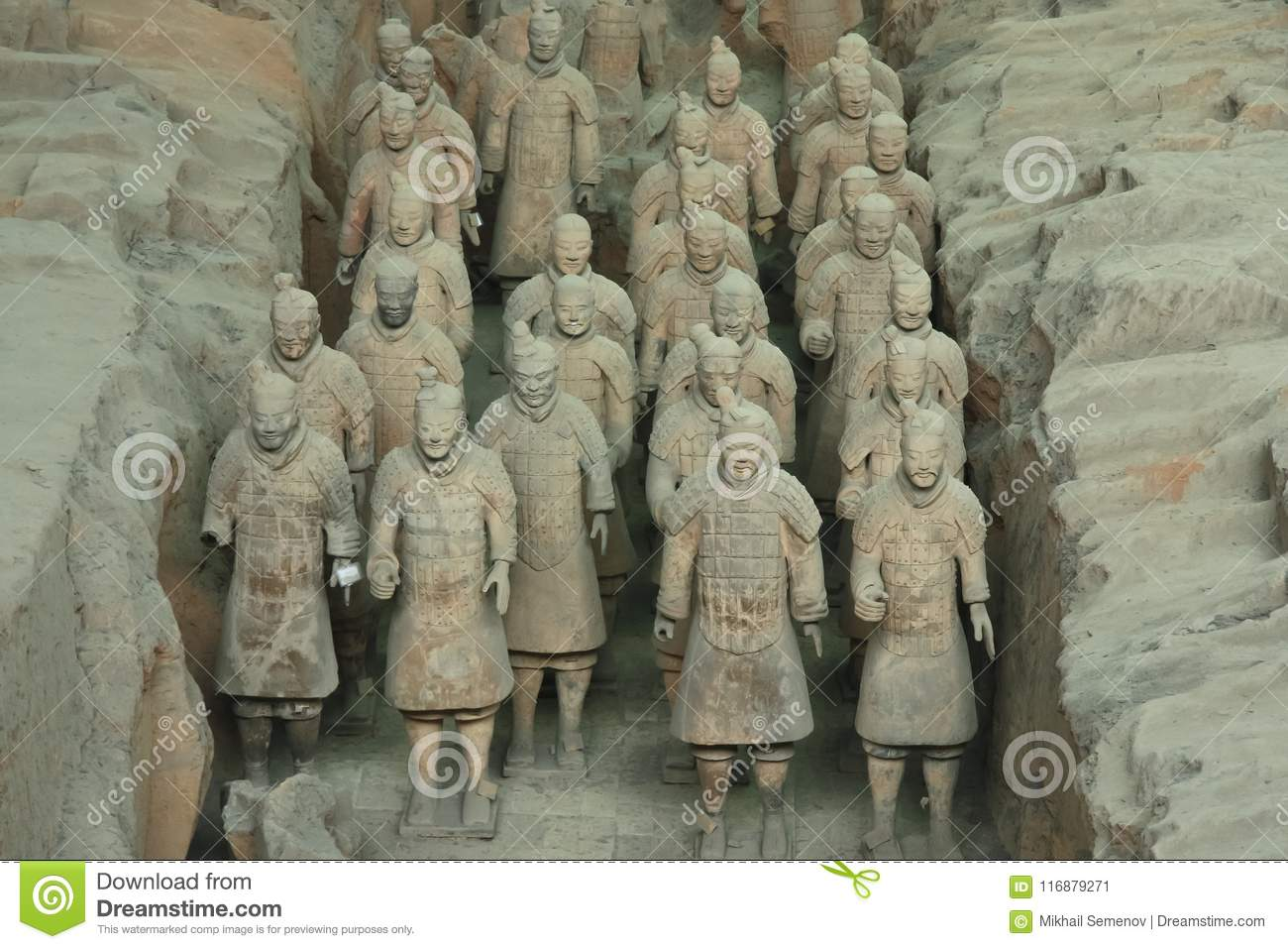 Archaeological excavations of the clay army of the emperor Qin Shi Huang