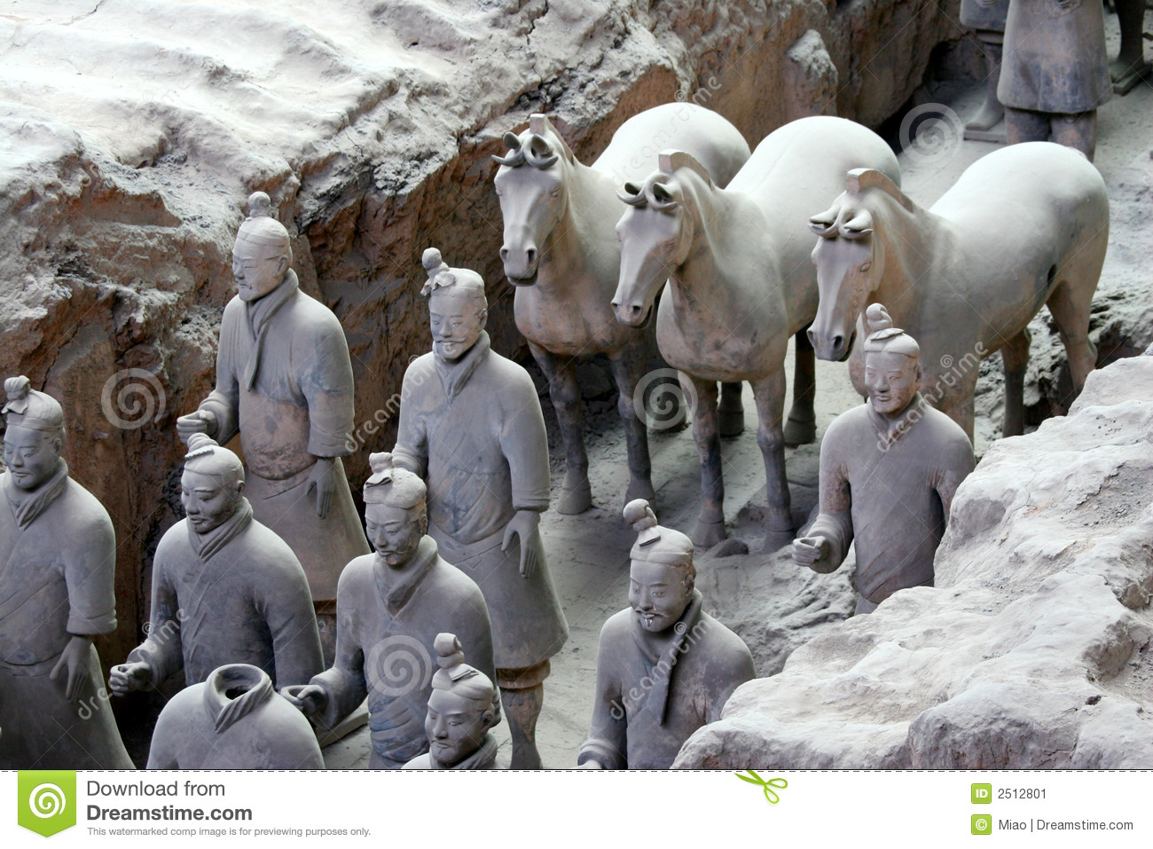 Terracotta Warriors And Horse Stock Image - Image: 2512801  Terracotta Warr...