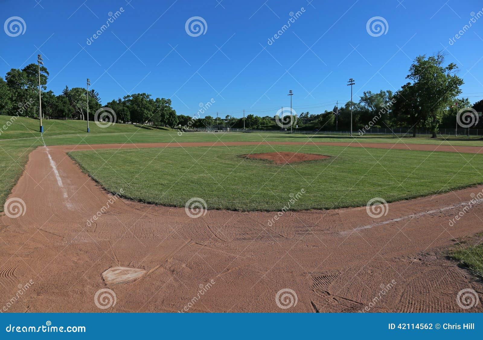 Terrain de base-ball grand-angulaire