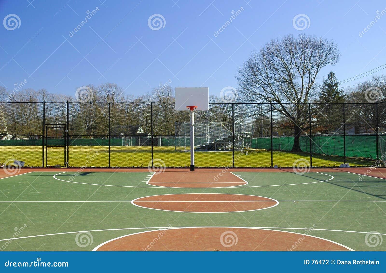 terrain de basket 2 photo stock image du playground cercle 76472. Black Bedroom Furniture Sets. Home Design Ideas