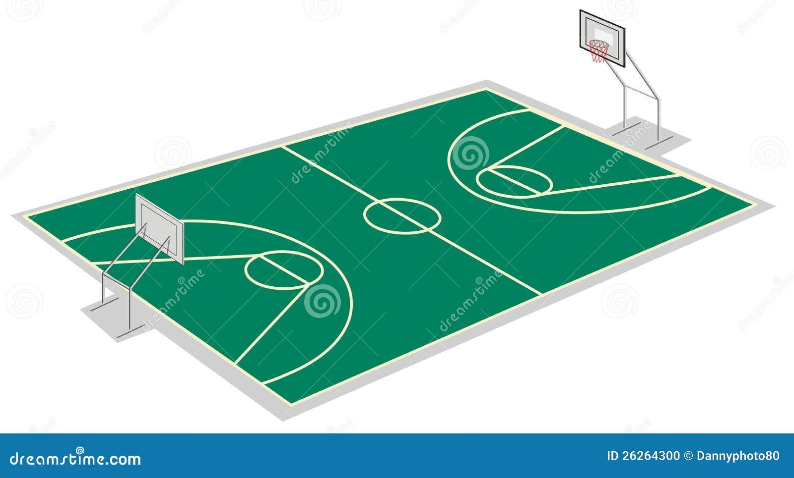 terrain de basket illustration de vecteur illustration du activit 26264300. Black Bedroom Furniture Sets. Home Design Ideas