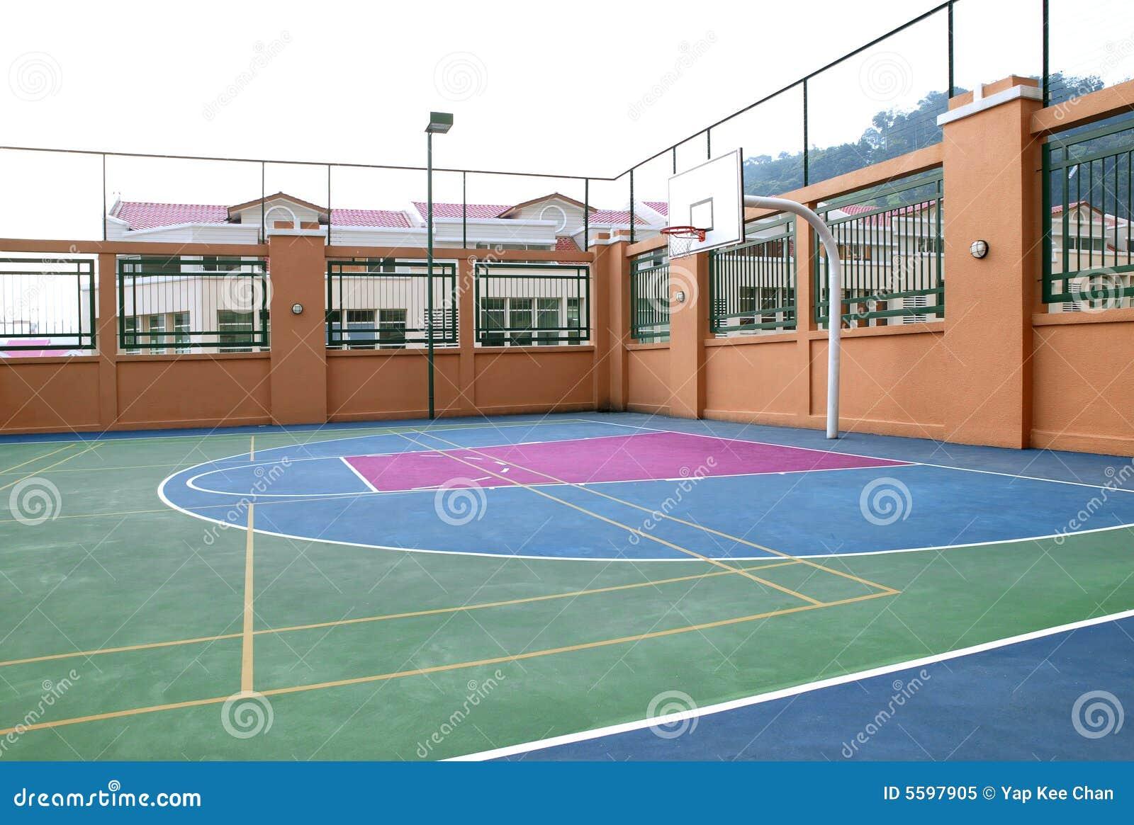 terrain de basket image stock image du victoire bille 5597905. Black Bedroom Furniture Sets. Home Design Ideas