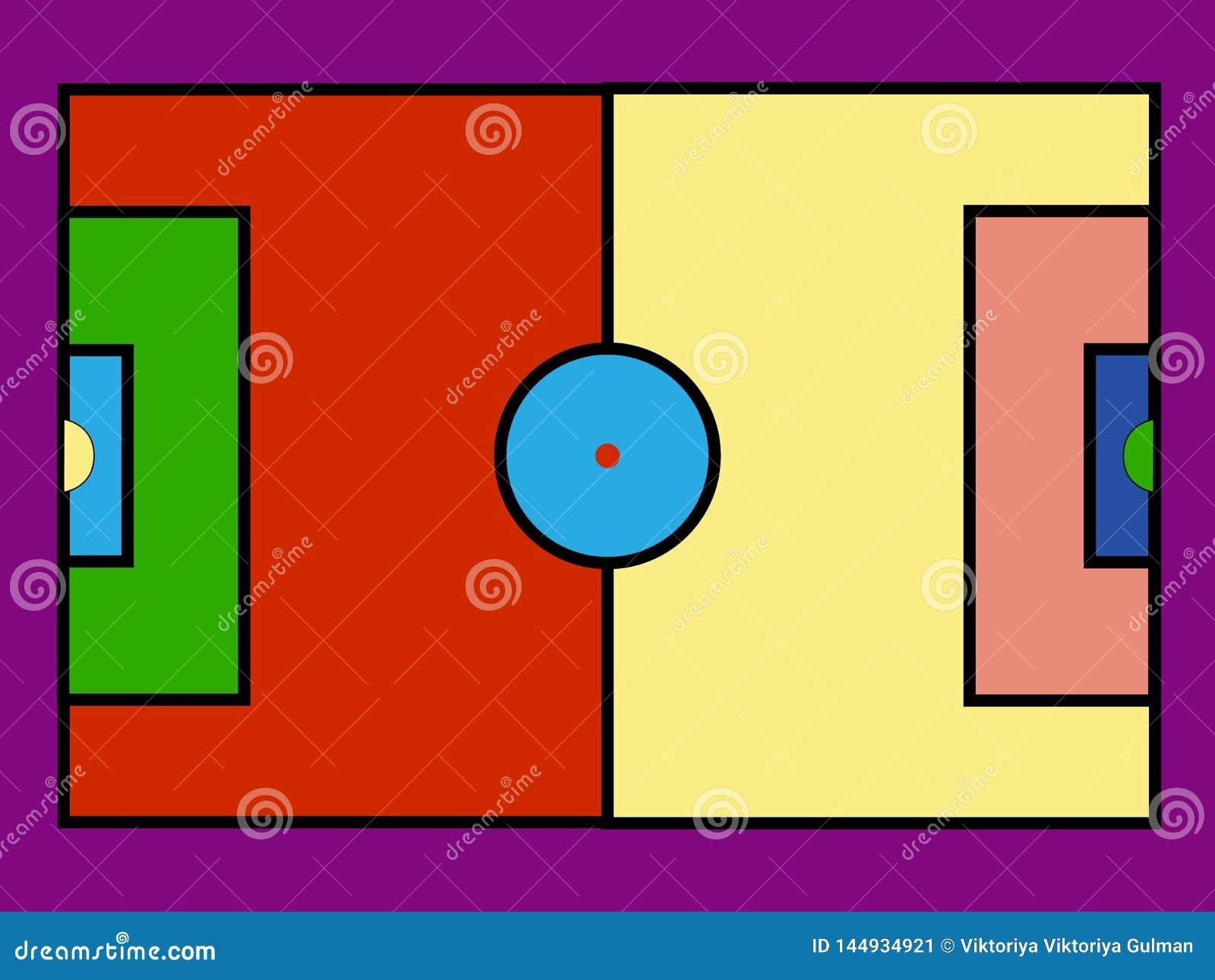 Terrain de football color? d art de bruit Ic?nes d illustration de vecteur