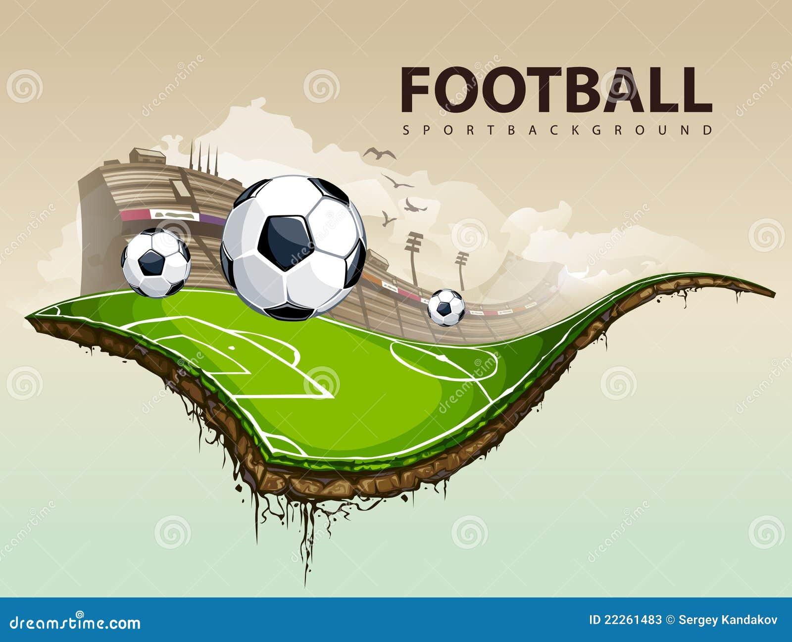 Terrain de football surréaliste
