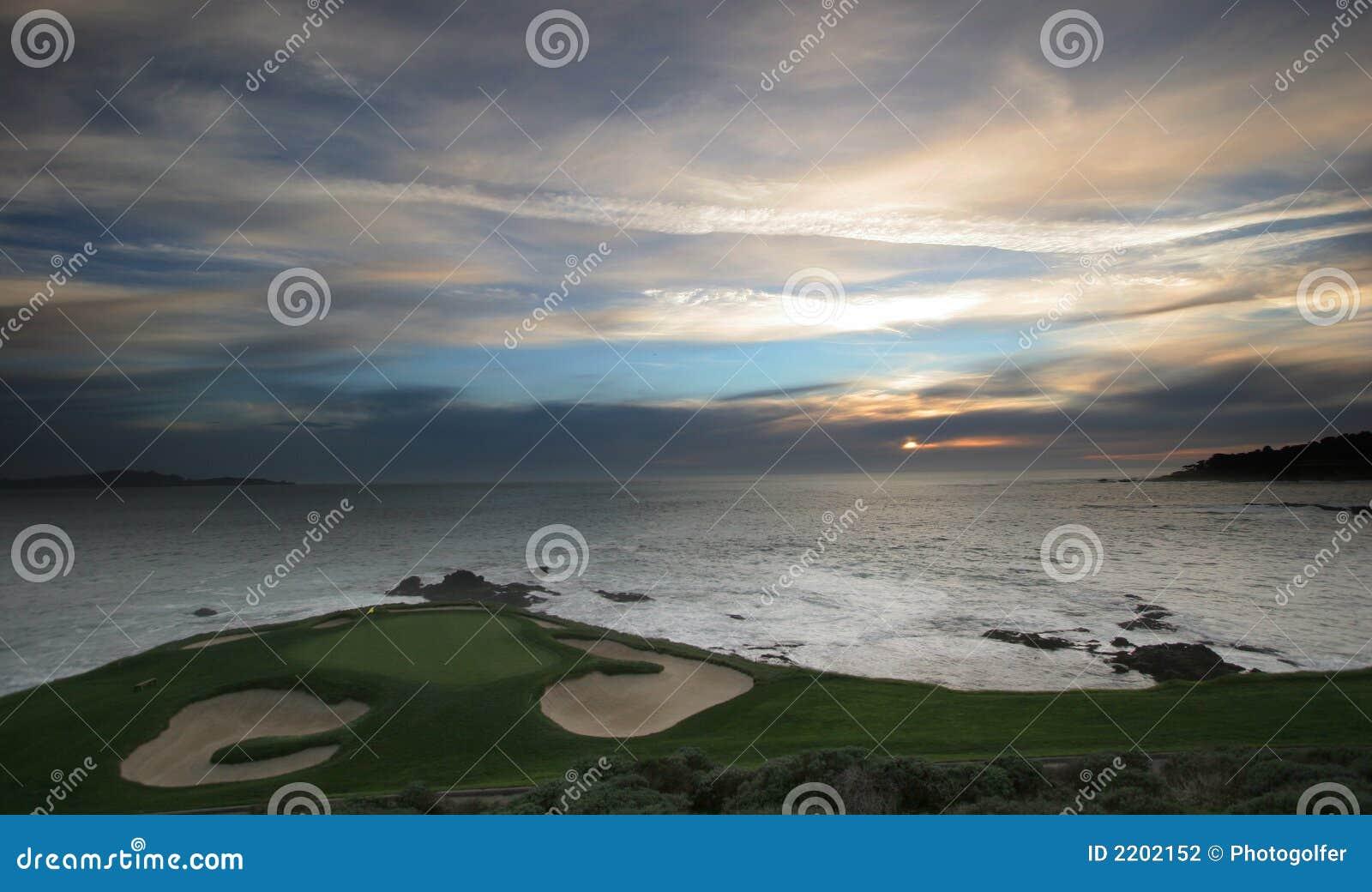 Terrain de golf de Pebble Beach, Ca