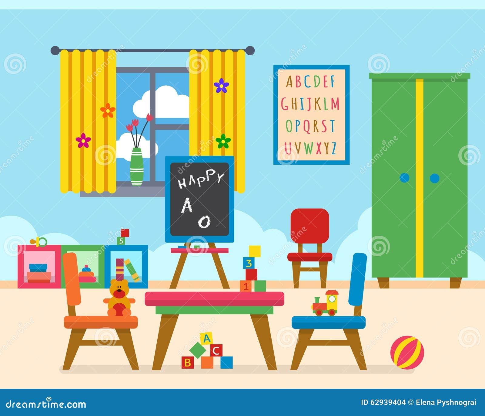 Terrain de jeu d 39 cole maternelle de jardin d 39 enfants illustration de vecteur illustration du - Image d ecole maternelle ...