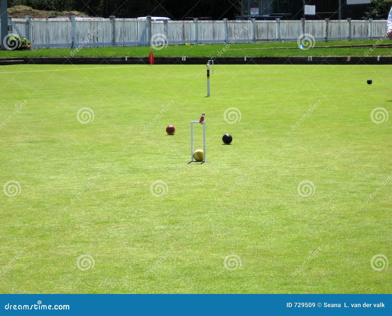 terrain de jeu de jeu de croquet images libres de droits image 729509. Black Bedroom Furniture Sets. Home Design Ideas