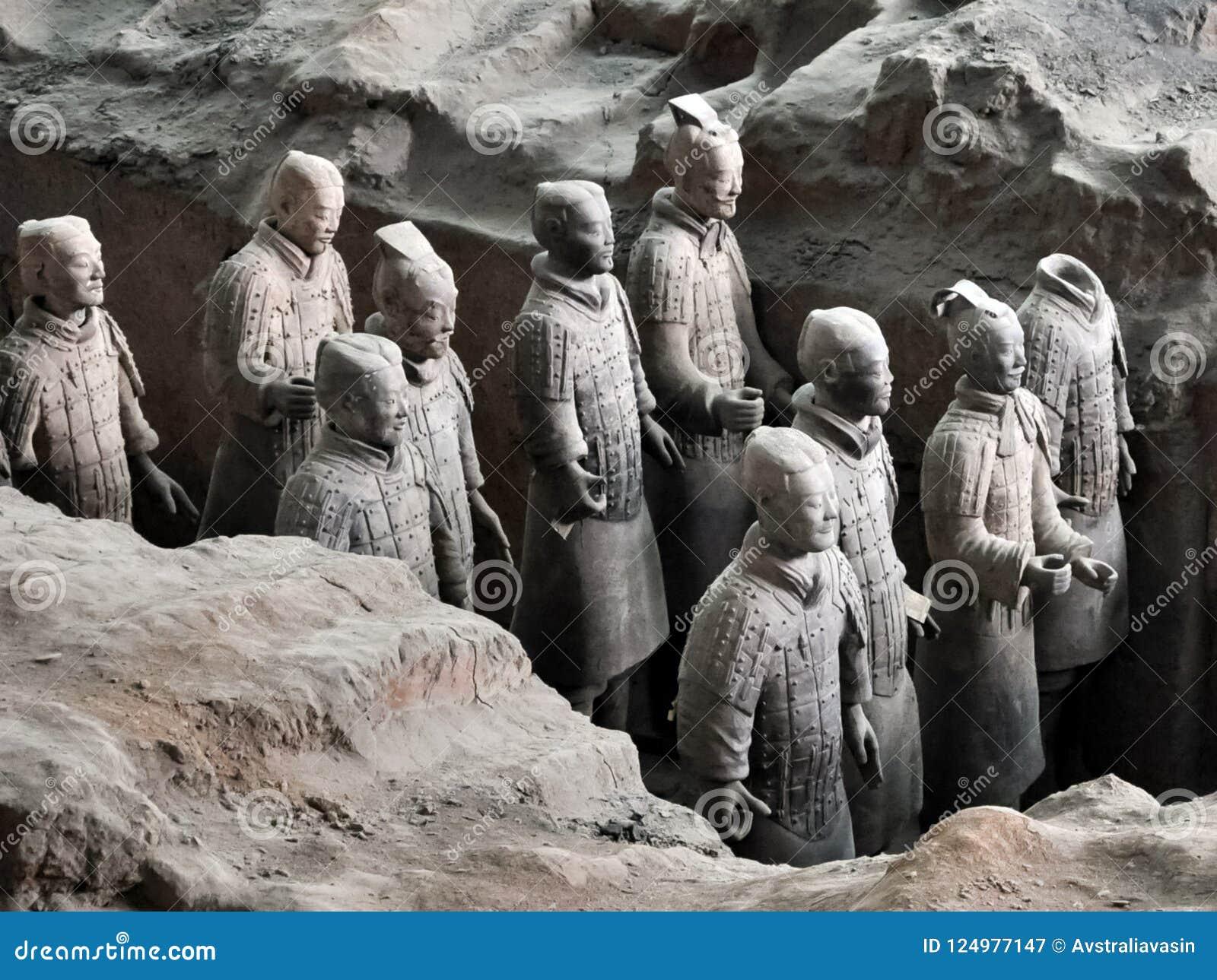 Terrakotta-Armee Lehmsoldaten des chinesischen Kaisers