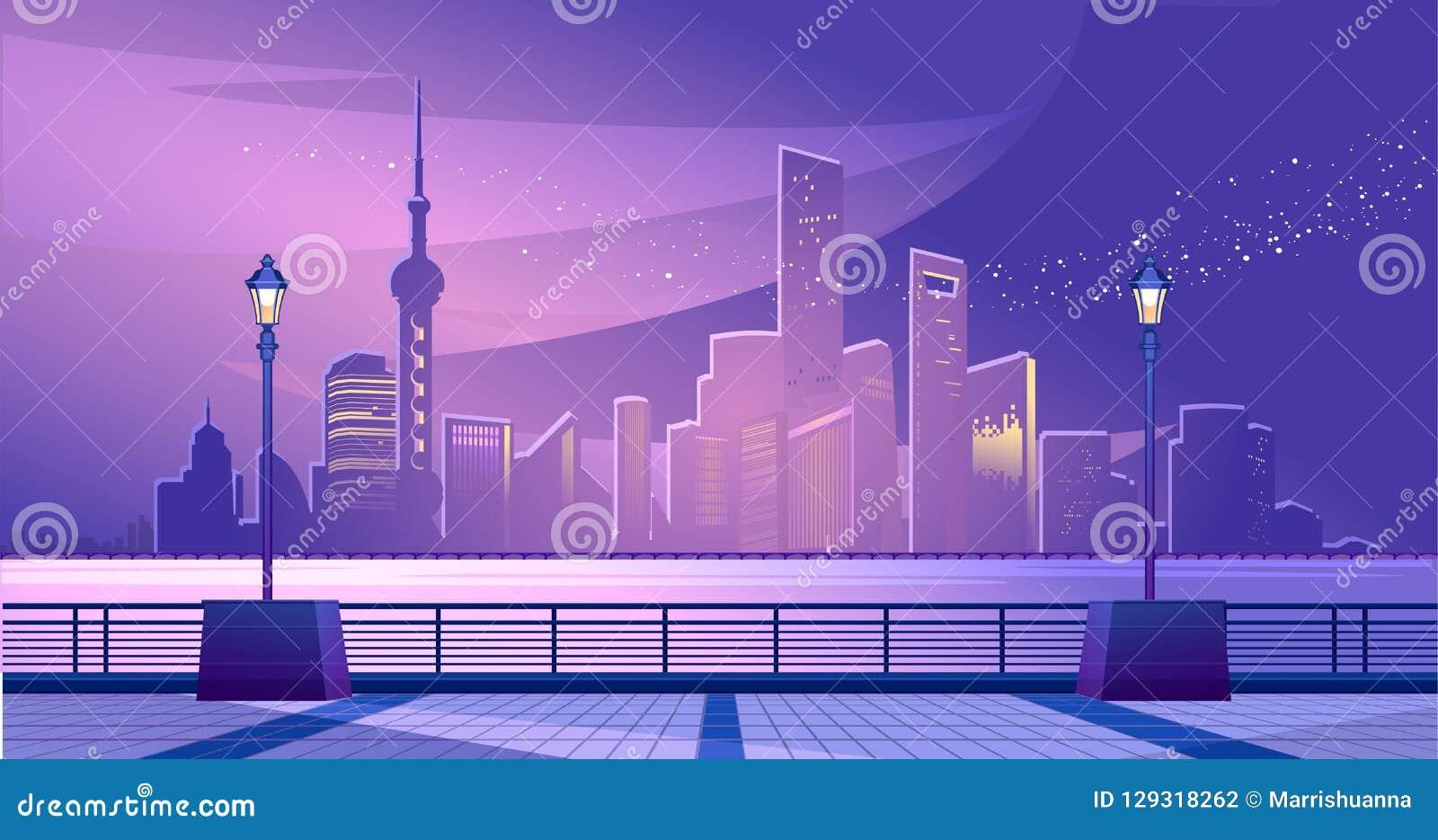 Terraplén de la ciudad de Shangai