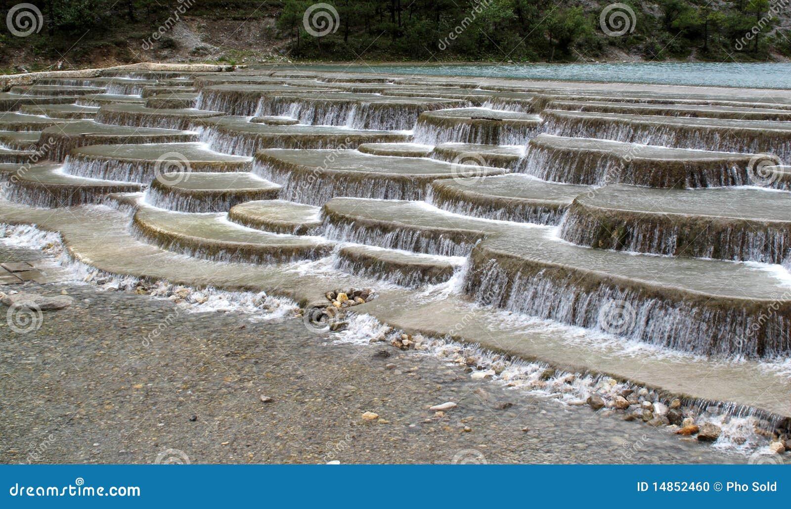 Terras de terrassen van de rivier van de stroomversnelling yunan stock foto afbeelding 14852460 - Foto van het terras ...