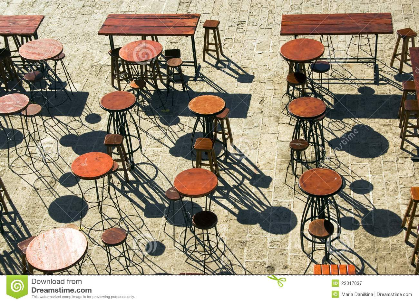 Terrasse De Bar Image Stock Image Du Wooden Table Bloc