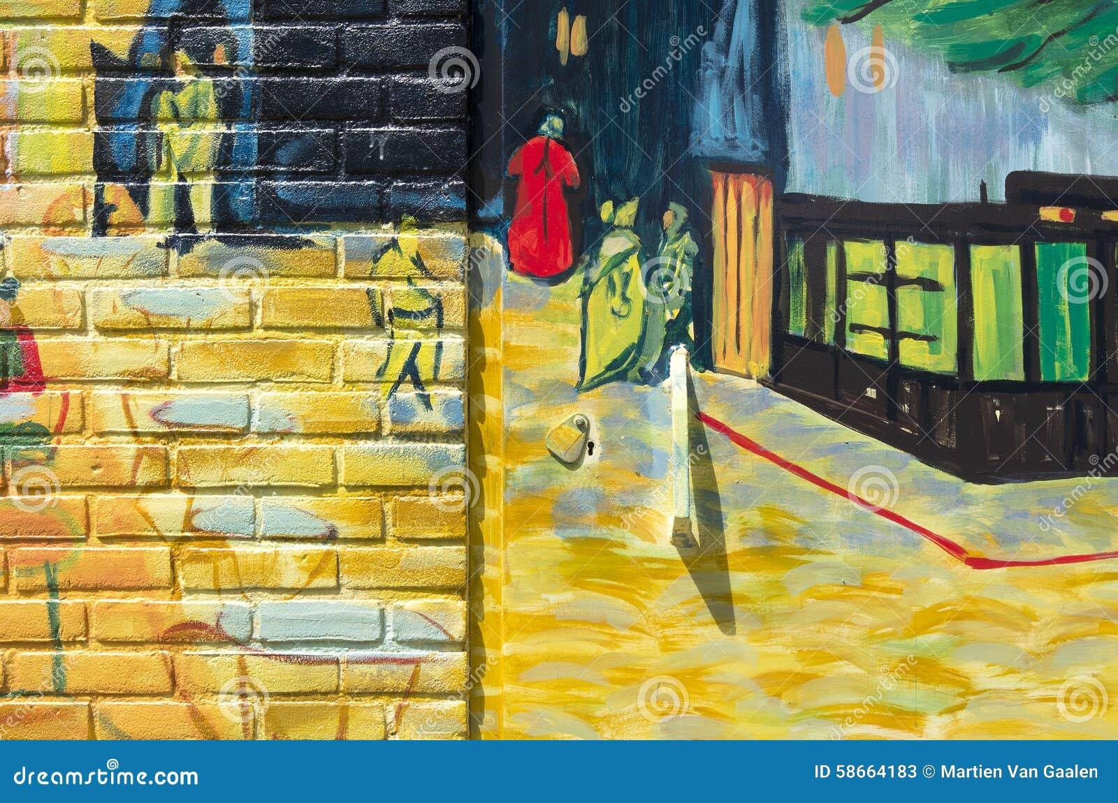 Terrasse De Cafe La Nuit De Vincent Van Gogh Photo Stock Editorial
