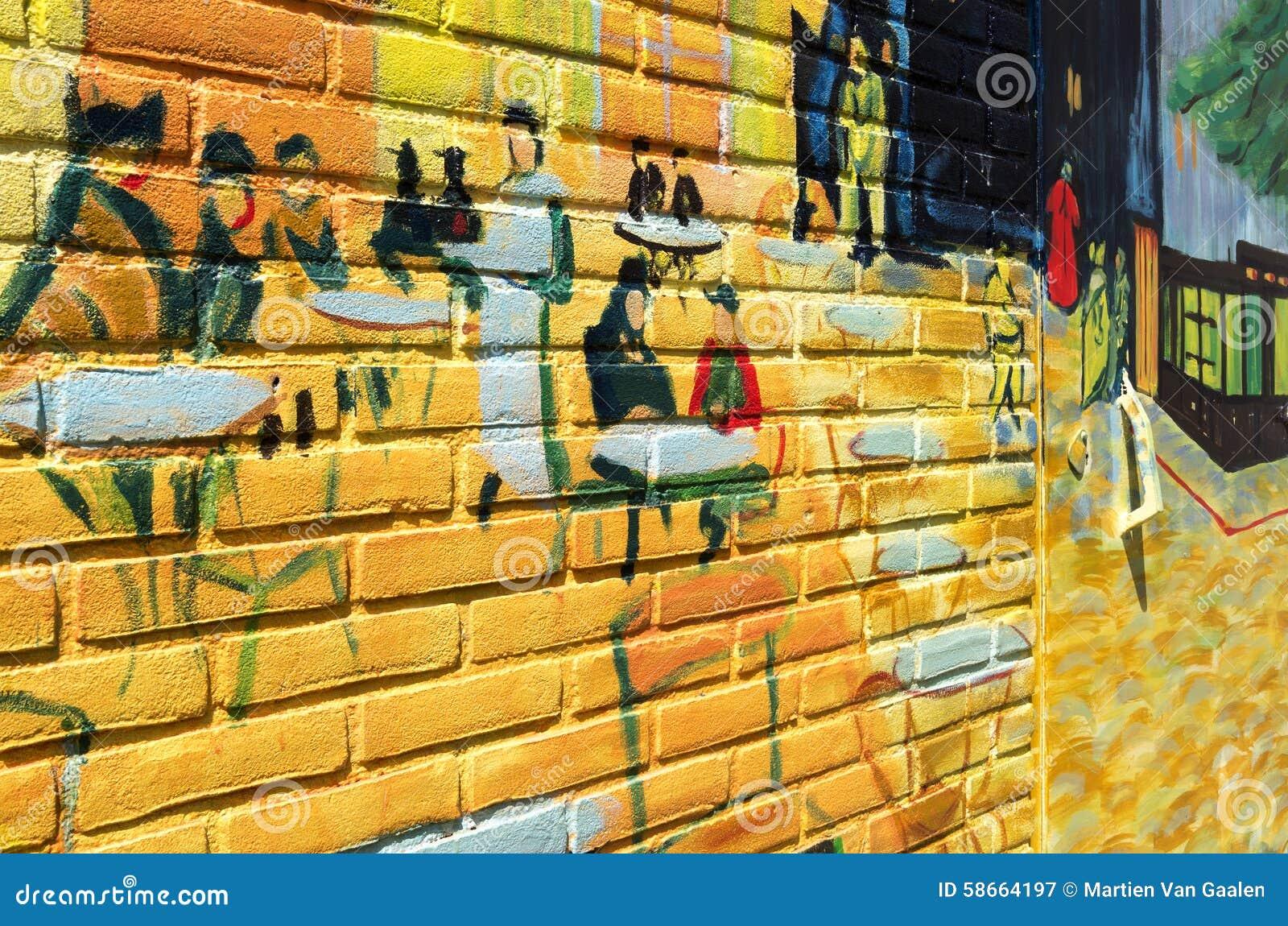 Terrasse De Cafe La Nuit De Vincent Van Gogh Photographie Editorial