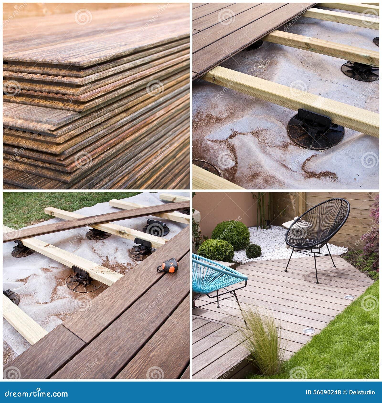 Construire Terrasse En Bois terrasse en bois, progrès de construction photo stock