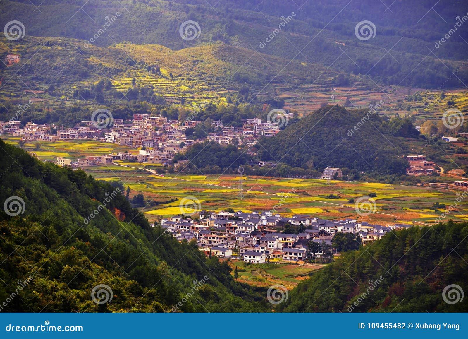 Terrasse an Guizhou-Porzellan