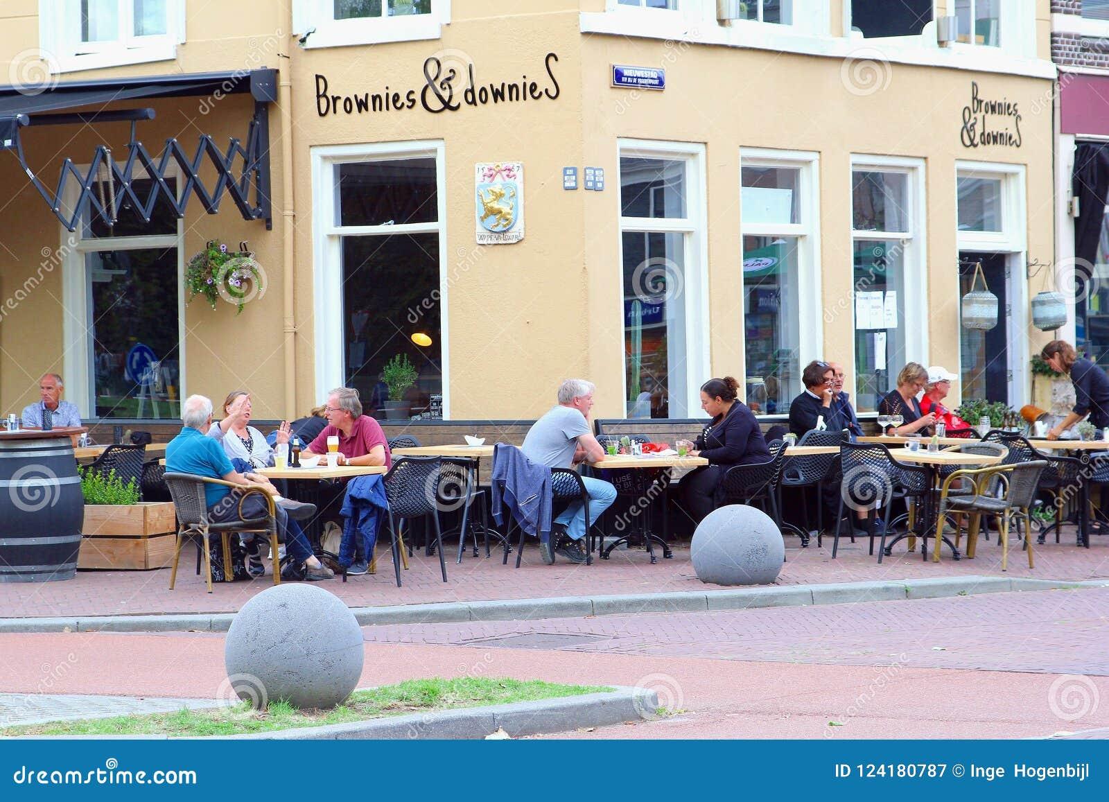 Terraza Al Aire Libre Leeuwarden Frisia Países Bajos Del