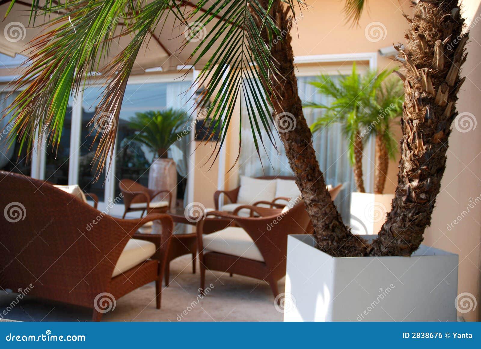 Terraza De Lujo Foto De Archivo Imagen De Verde Vacío