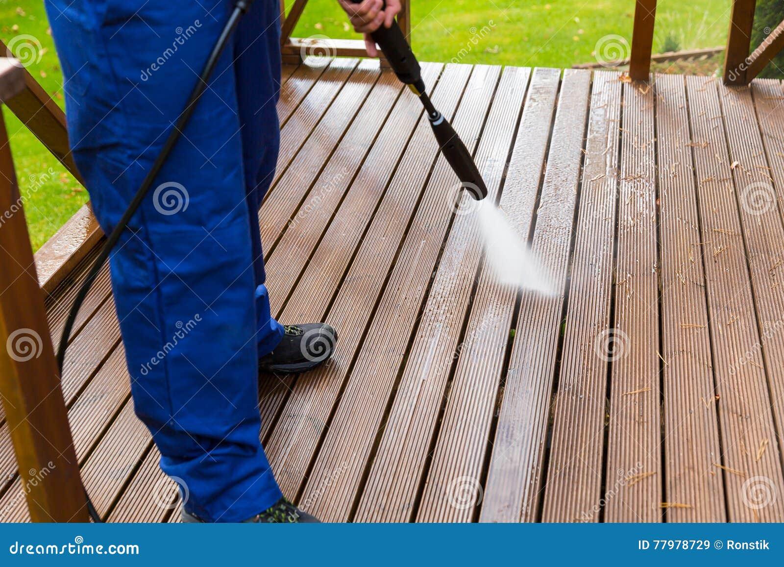 limpieza madera terraza