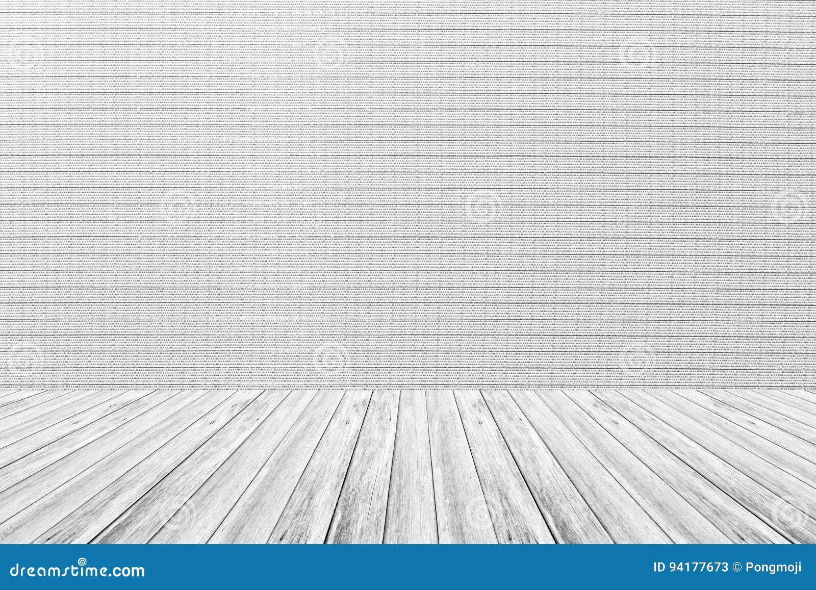 Terraza De Madera Y Textura Interior Del Papel Pintado Fotos