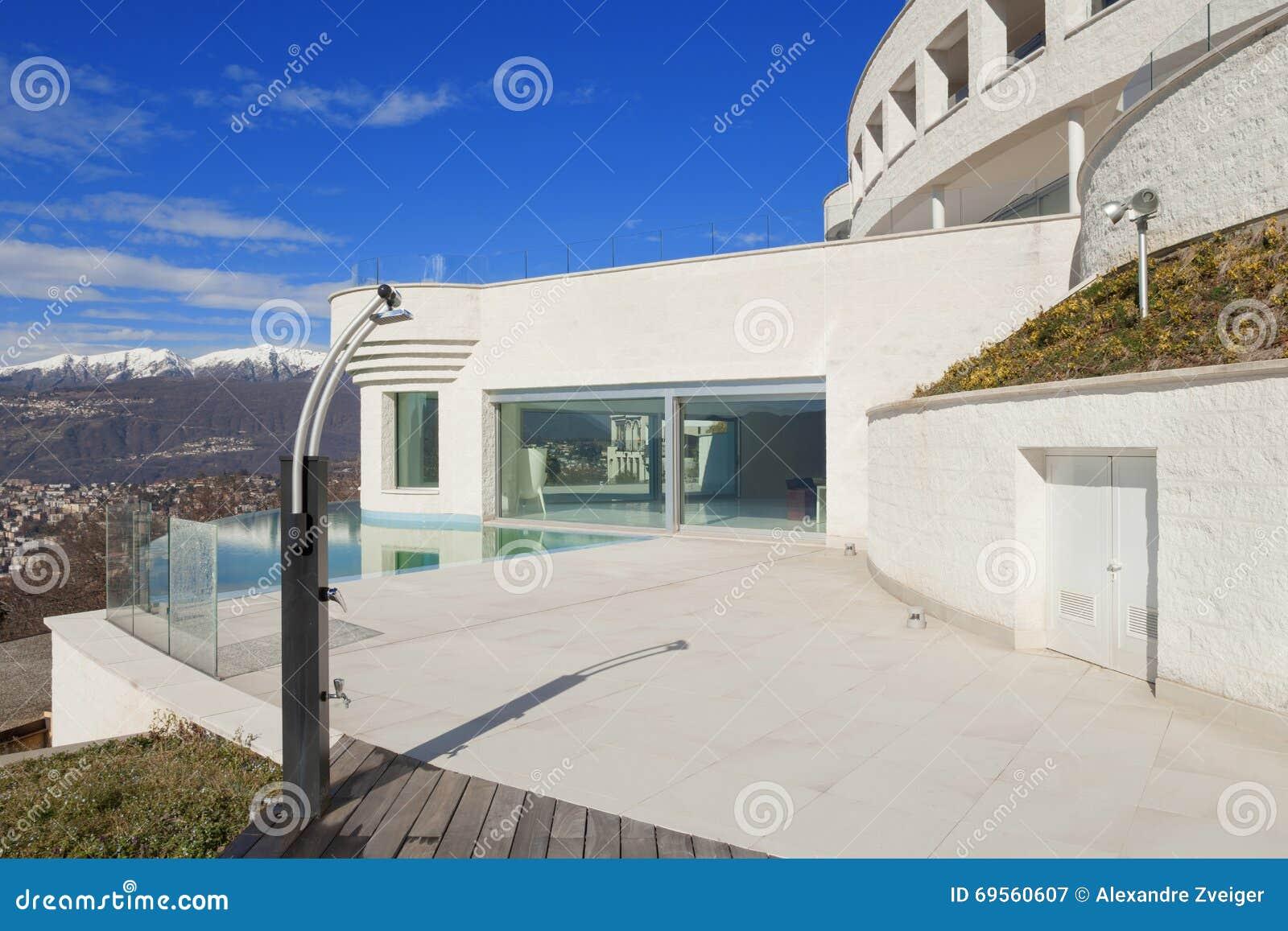 Terraza Del Edificio Moderno Imagen De Archivo Imagen De