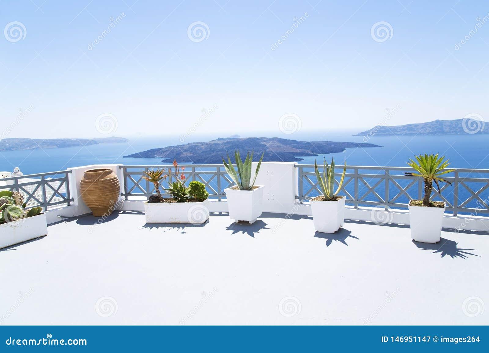 Terraza en Santorini
