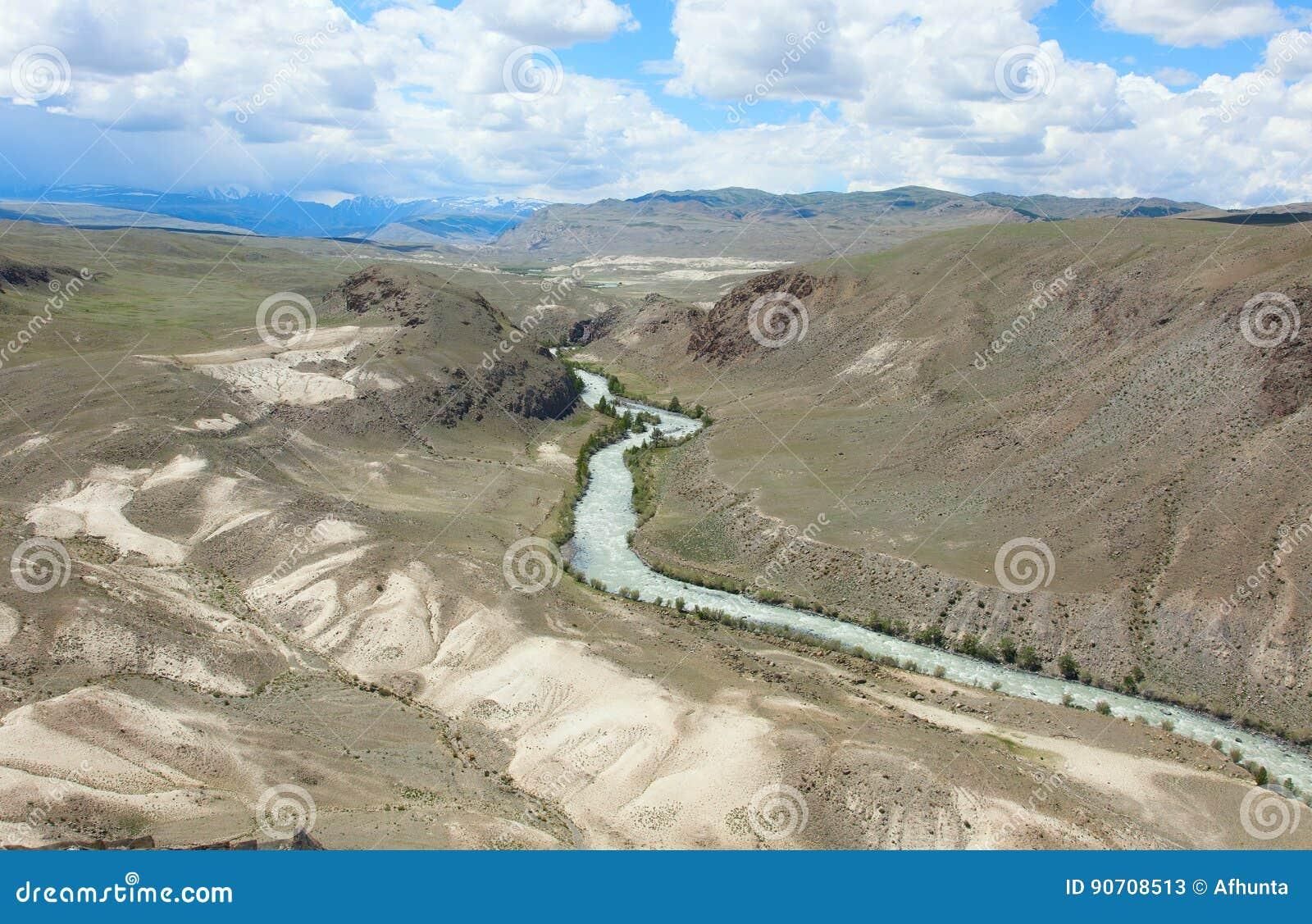 Terraza Fluvial Imagen De Archivo Imagen De Montañoso