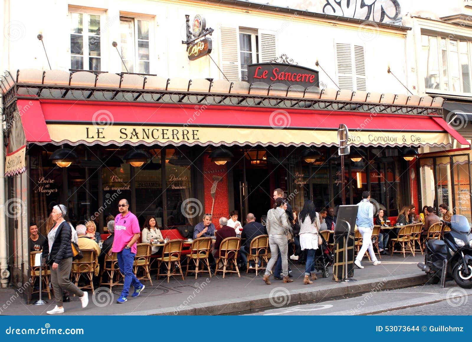 Terraza francesa de la cervecer a par s imagen de for Paris muebles de terraza