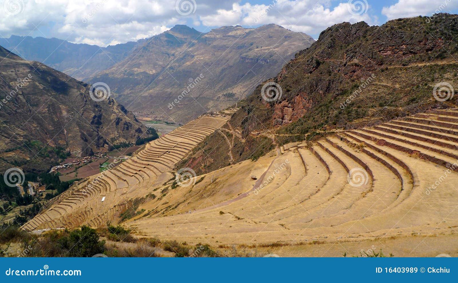 Terrazas Agrícolas Históricas En Perú Imagen De Archivo
