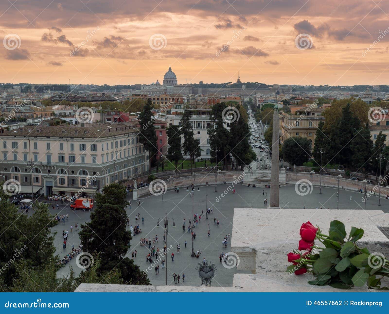 Terrazza del Pincio fotografia editoriale. Immagine di vista - 46557662