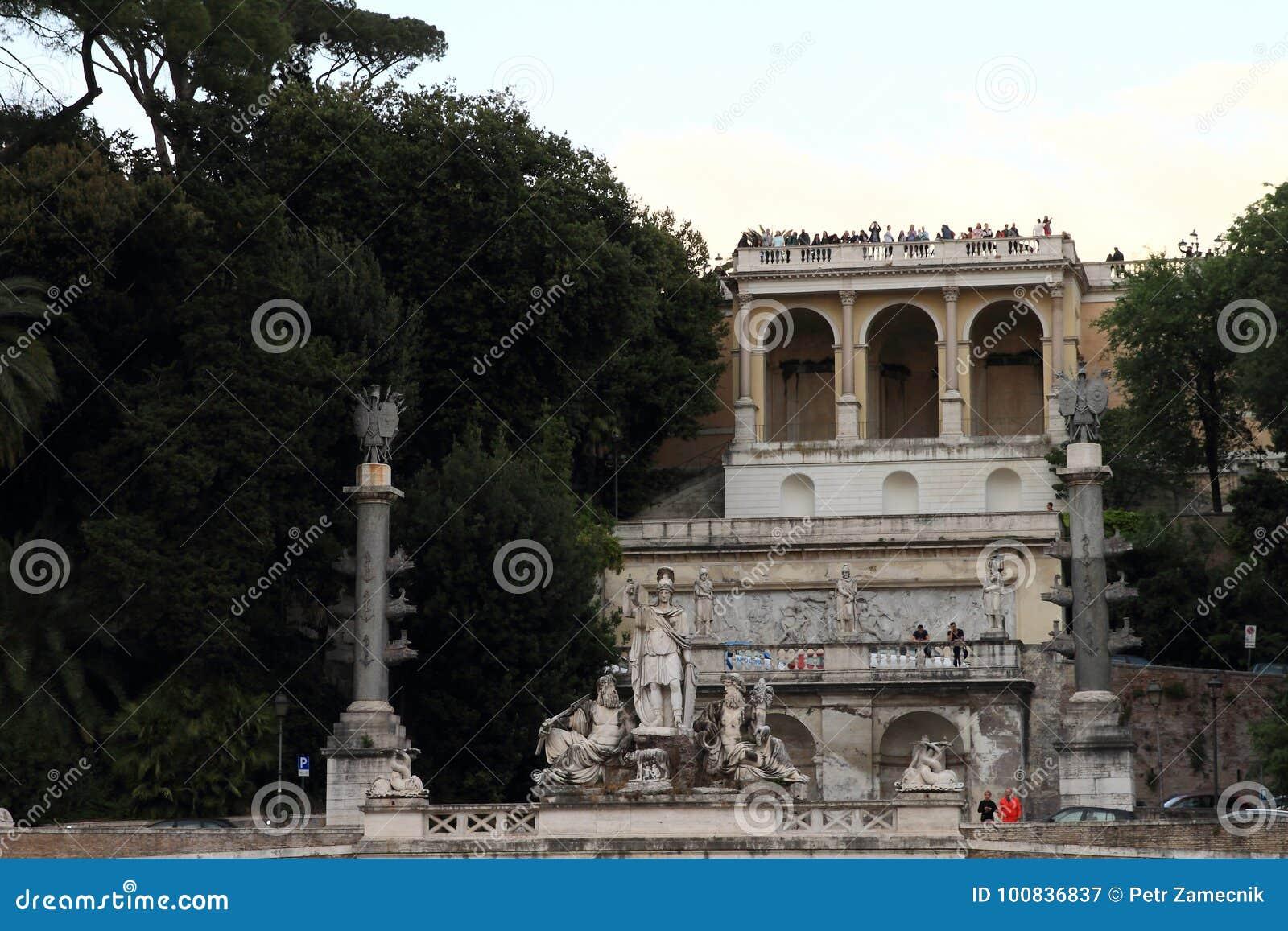 Terrazza del Pincio editorial photography. Image of historical ...