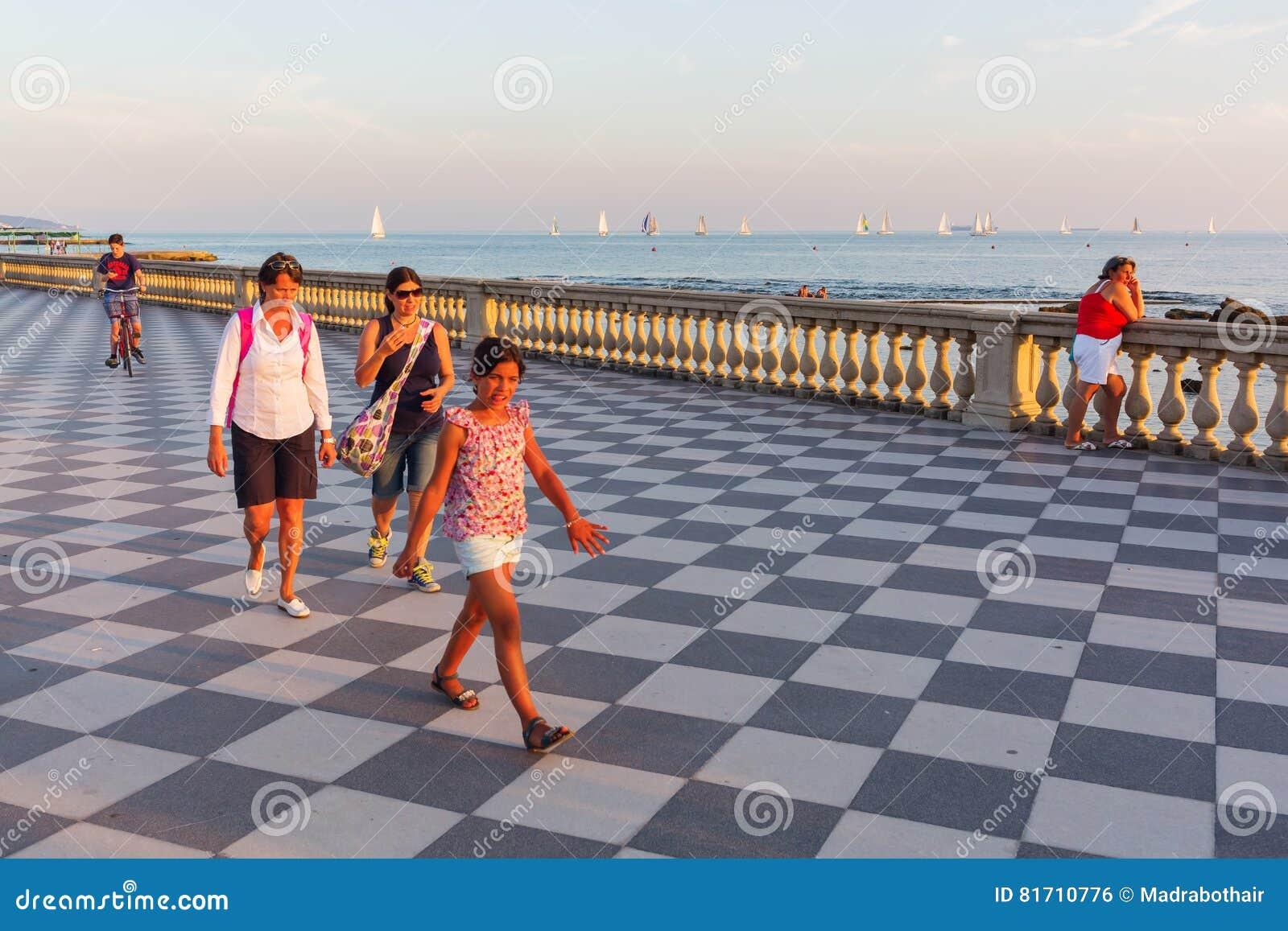 Terrazza Mascagni In Livorno, Italy Editorial Photo - Image of ...