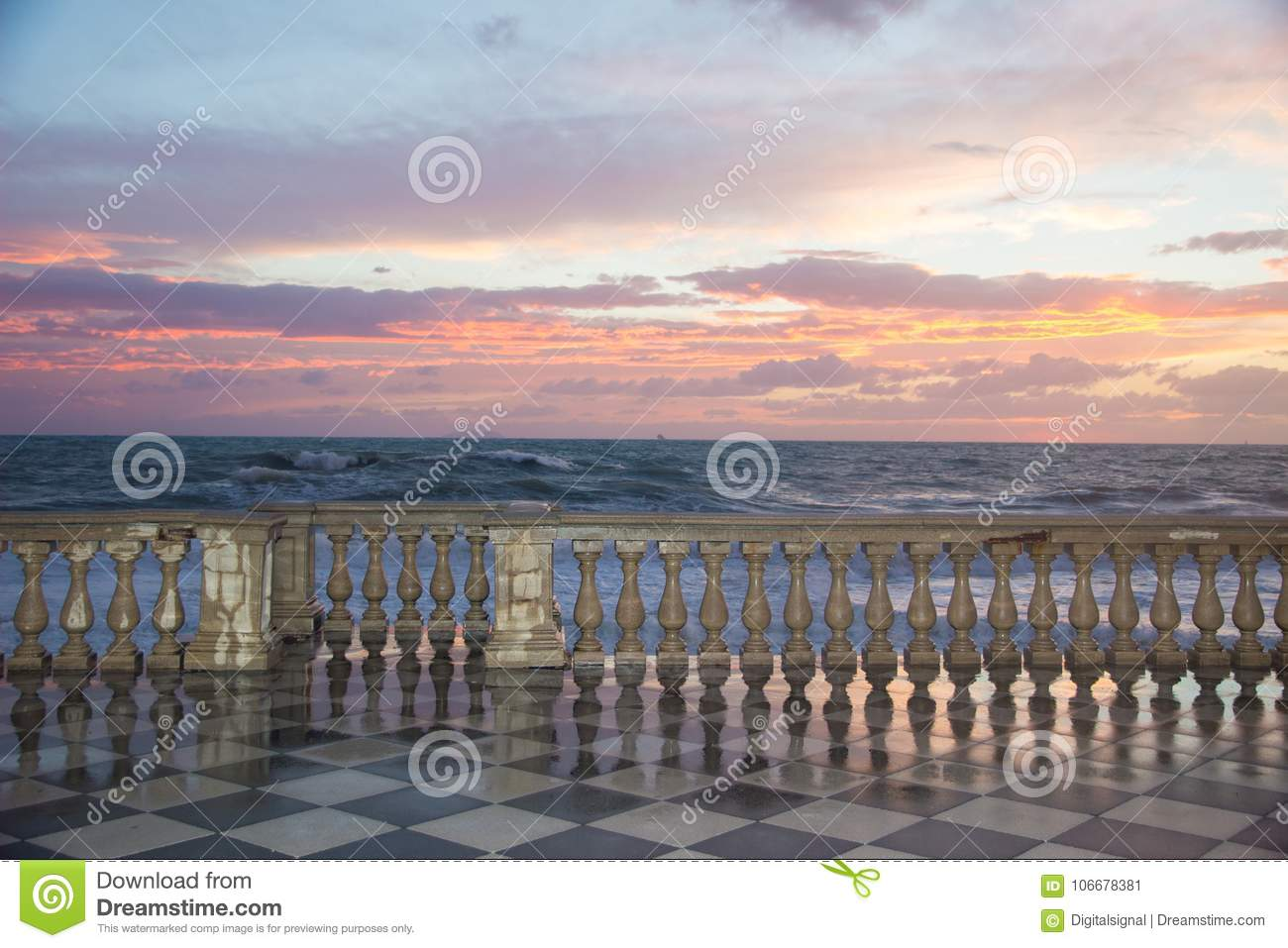 The Terrazza Mascagni Is A Belvedere In Leghorn, Italy Stock Image ...