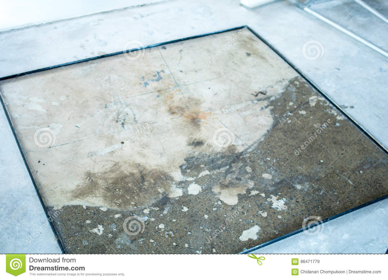 Terrazzo Floor Mold Stock Image Image Of Demolition 86471779