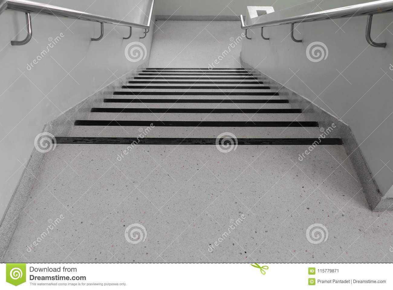 Download Terrazzo Floor Stairs Walkway Down Stock Image   Image Of Hotel,  Classical: 115779871