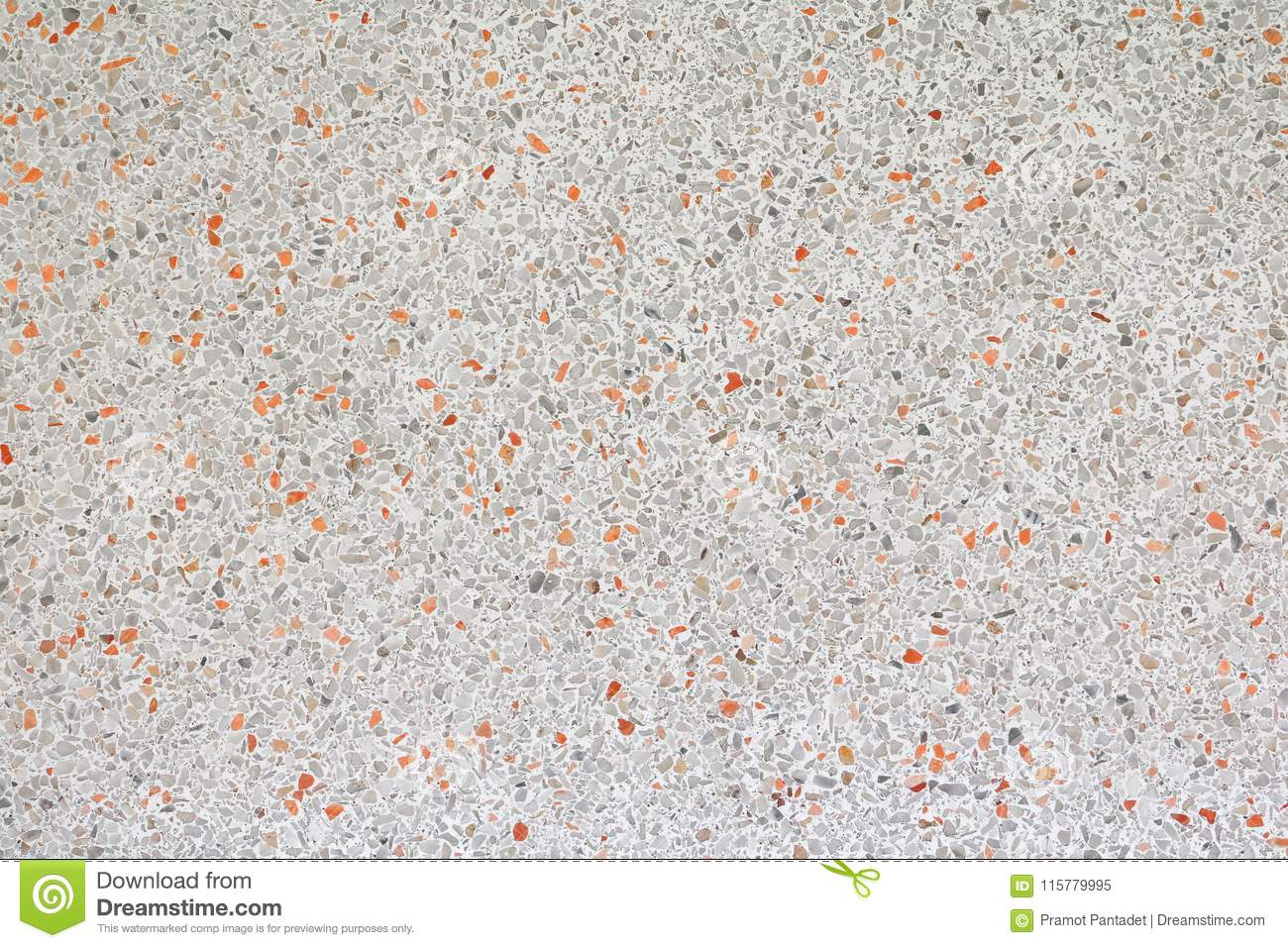 Terrazzo Floor Stone Yellow Old Texture Or Marble Background
