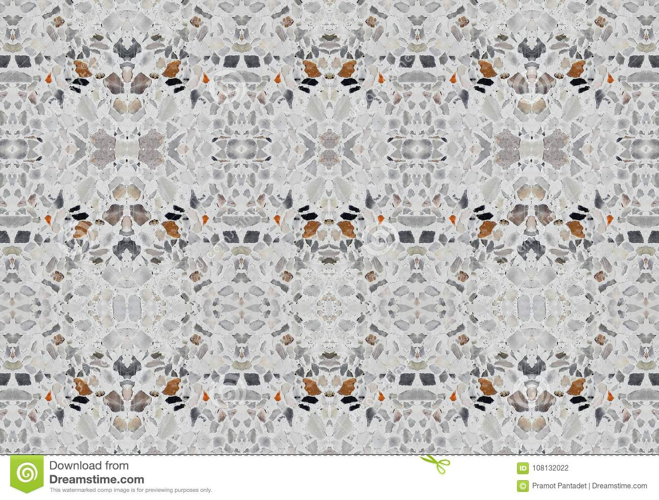 Download Terrazzo Flooring Or Marble Stone Wall Texture Seamless For Background Stock Photo