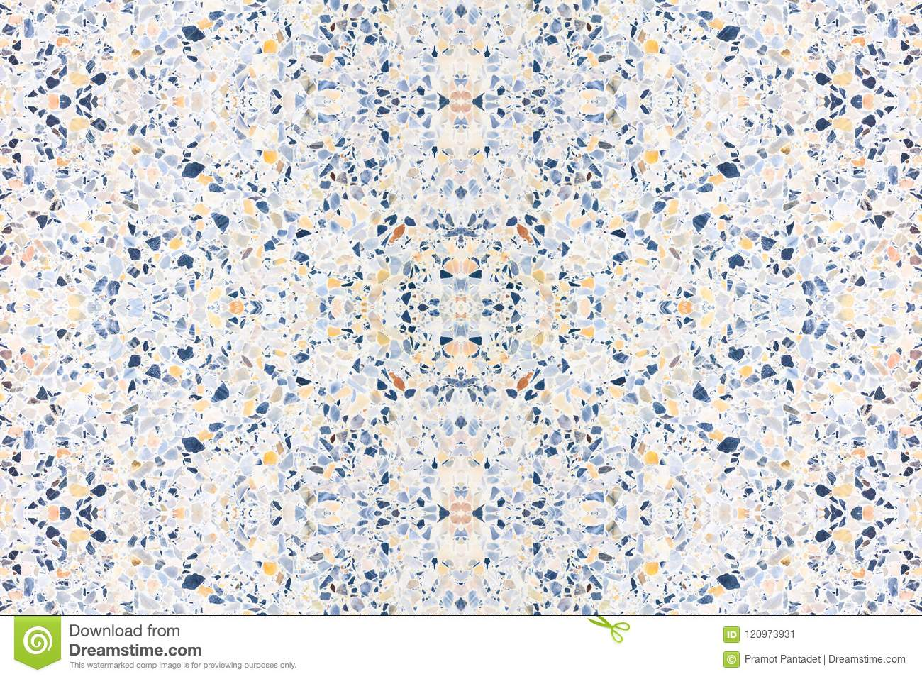 Terrazzo Flooring Old Texture Or Polished Stone For
