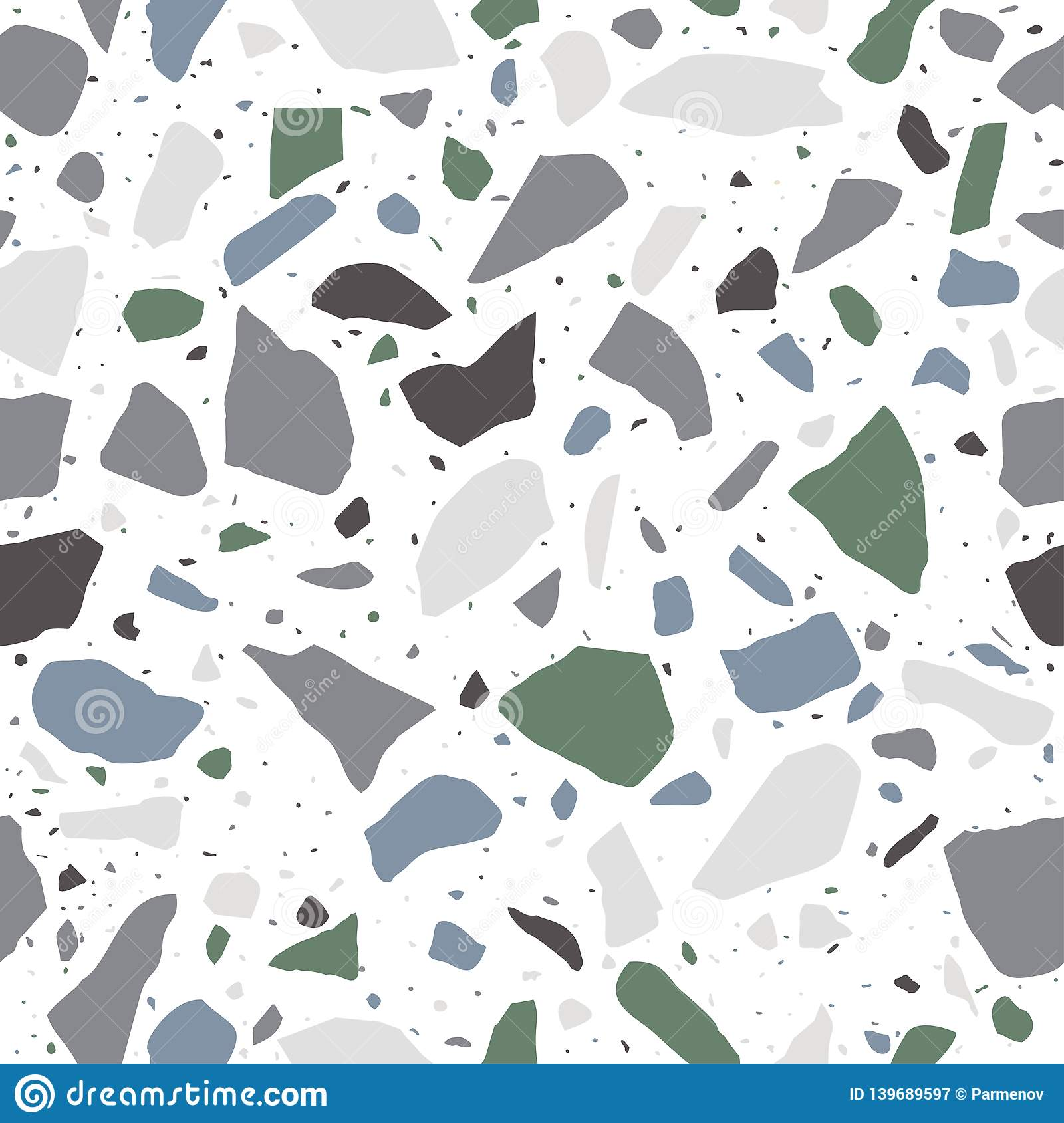 Terrazzo Flooring Seamless Pattern In Pastel Colors