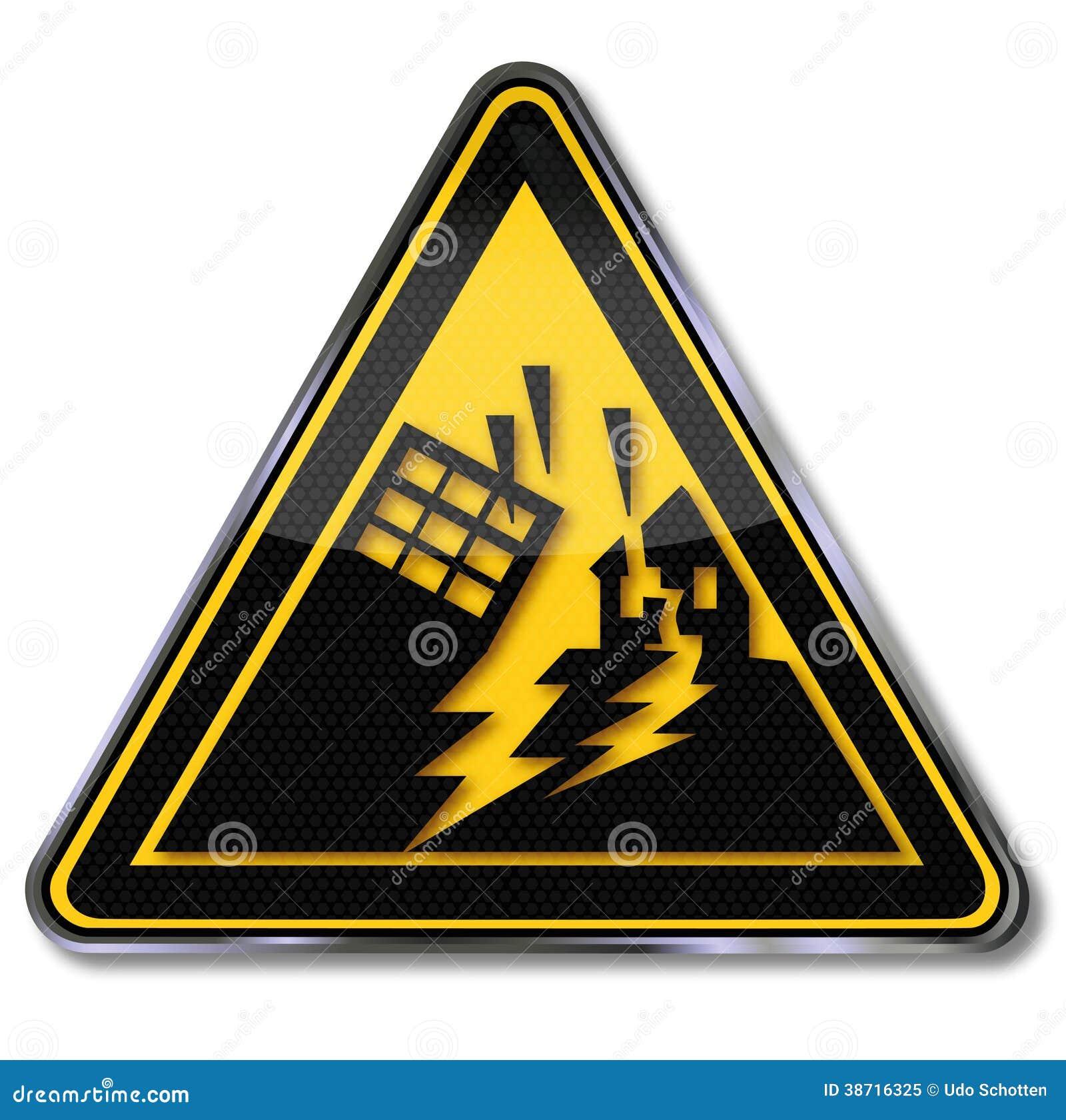 Terremoto e area d avvertimento di terremoto