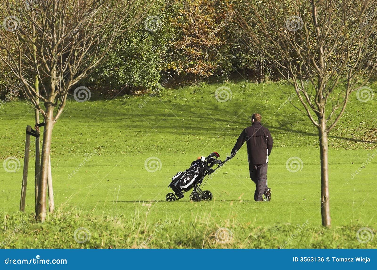 Terreno da golf con un giocatore