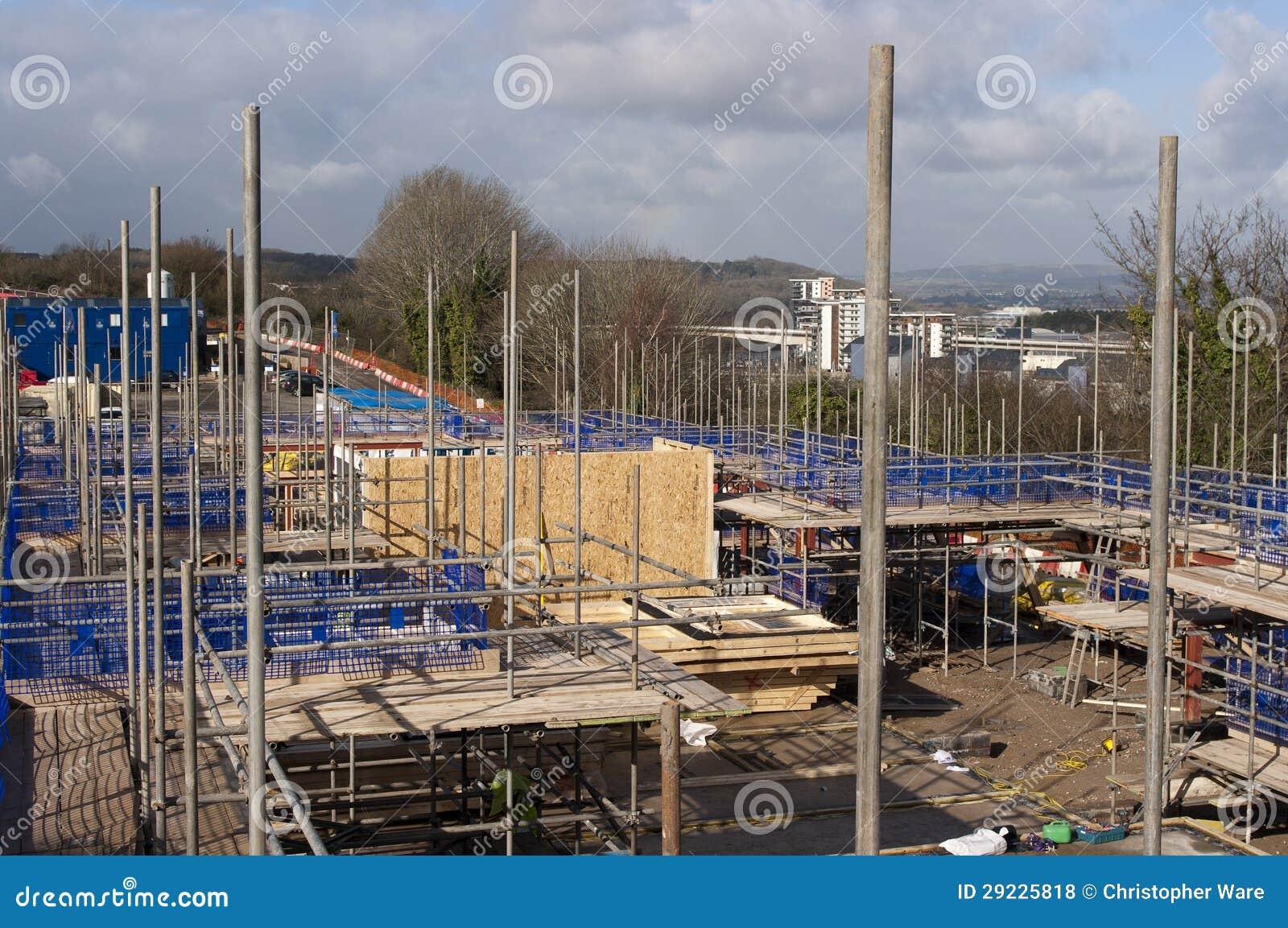 Download Terreno De Construção No Reino Unido Foto de Stock - Imagem de local, wales: 29225818