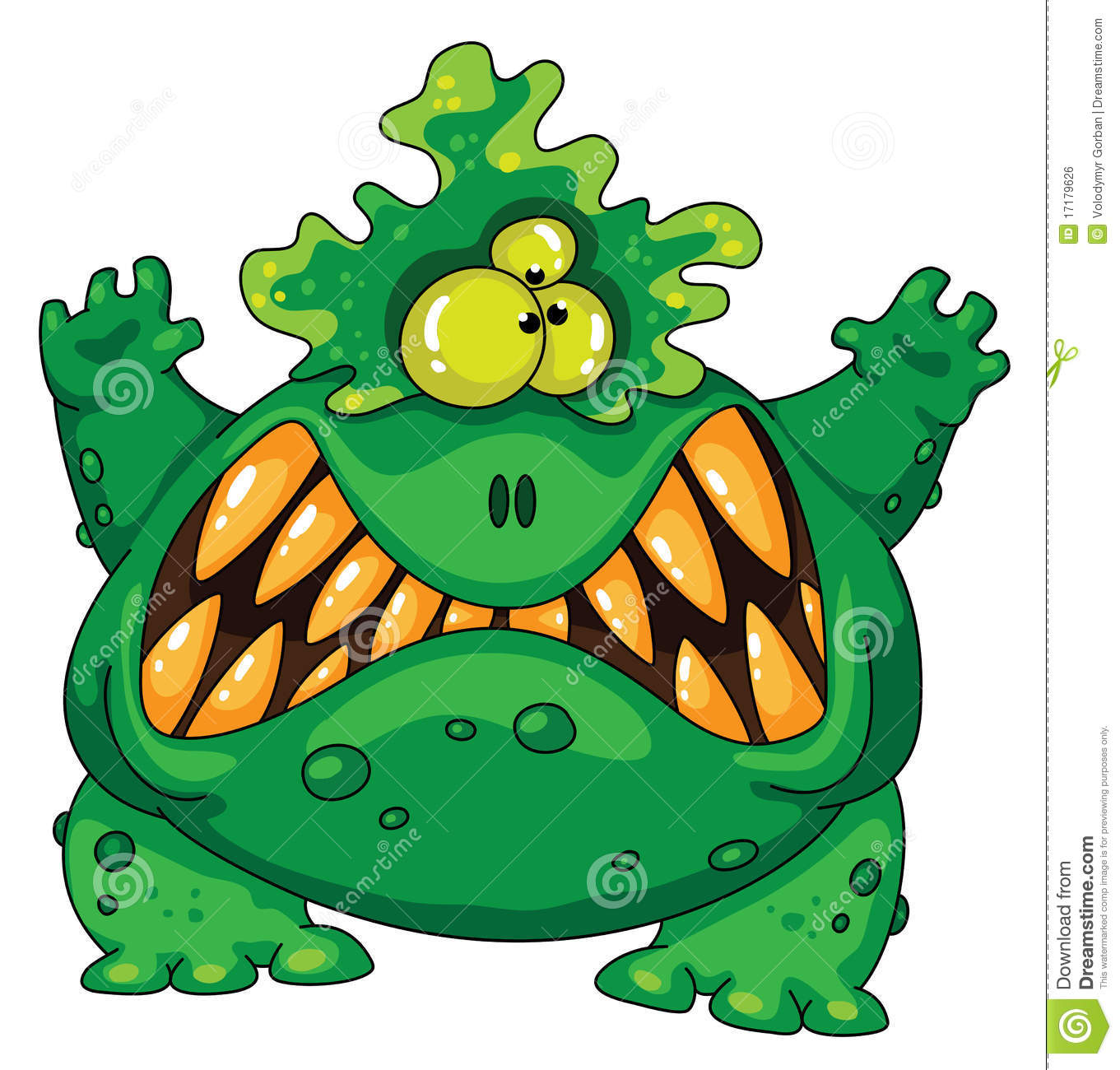 Terrible Green Monster Royalty Free Stock Image Image