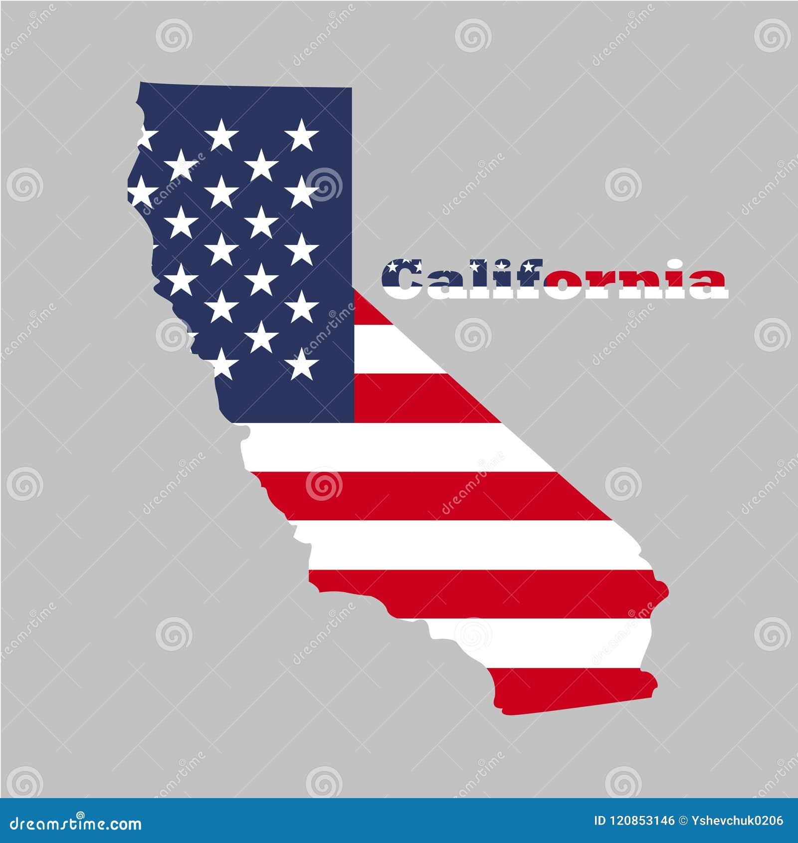Territorio di California Fondo grigio Illustrazione di vettore