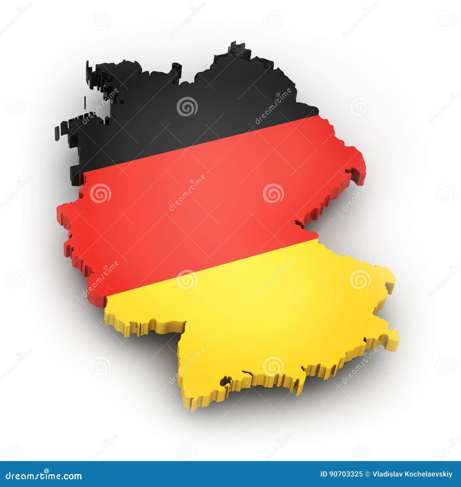 Territorio e bandiera della germania illustrazione di - Bandiera della pagina di colorazione della germania ...