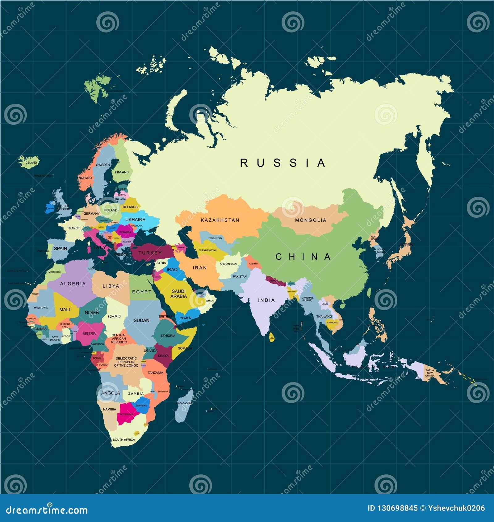Europa Asia Cartina.Territory Of Continents Africa Europe Asia Eurasia