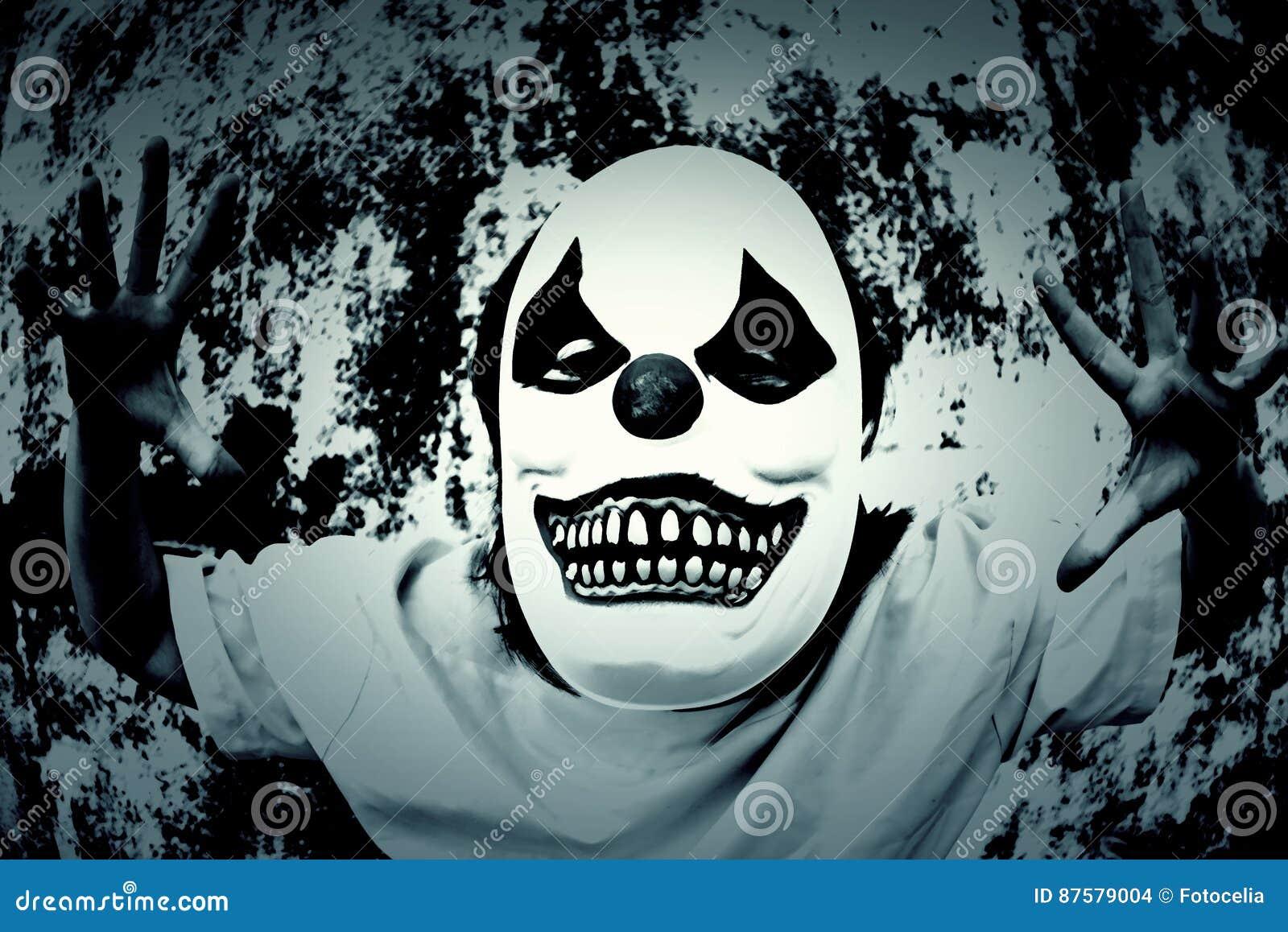 Terror Scare stock photo  Image of clown, emotion, clowns