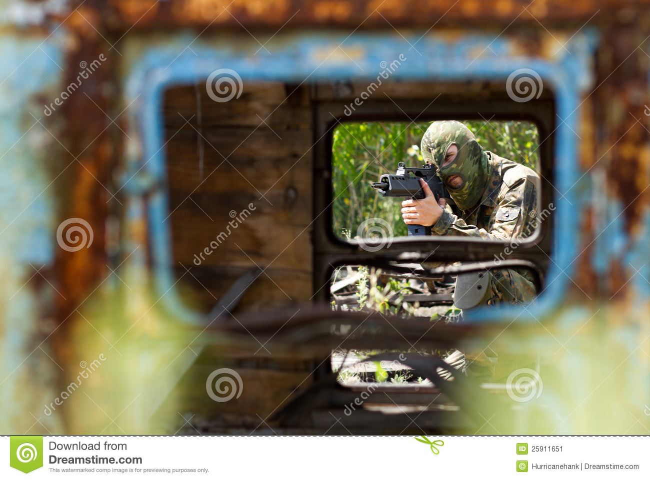 Terrorist Targeting With A Gun Royalty-Free Stock Image ...
